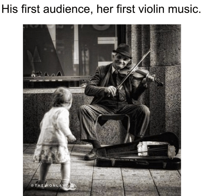 Photograph - His first audience, her first violin music. @THELIONLAW