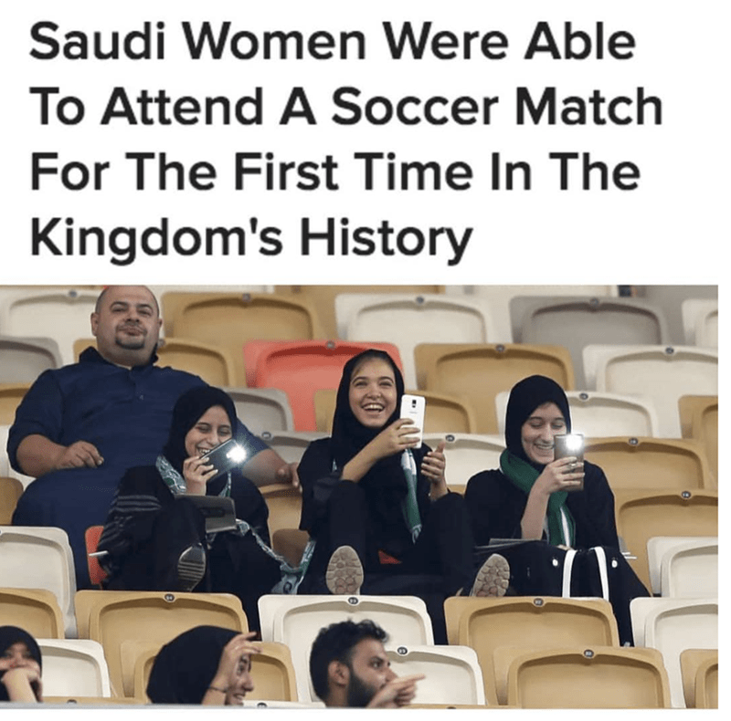 People - Saudi Women Were Able To Attend A Soccer Match For The First Time In The Kingdom's History