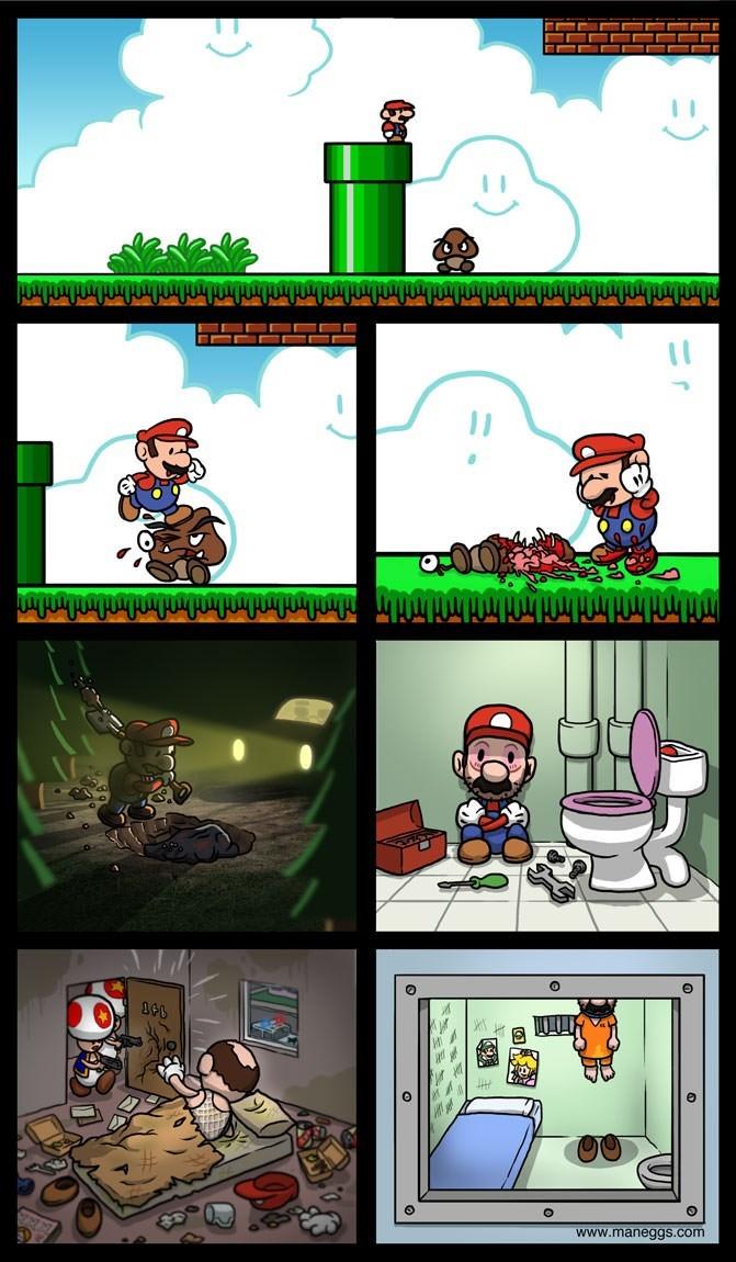 gaming meme about super mario comic version