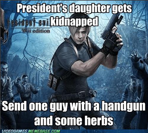 gamer meme with resident evil game
