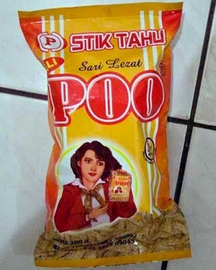 funny product name - Snack - STIK TAHL Sari Lezat POO