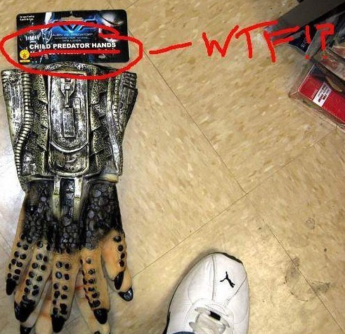 funny product name - Sports gear - WT CHILD PREDATOR HANDS