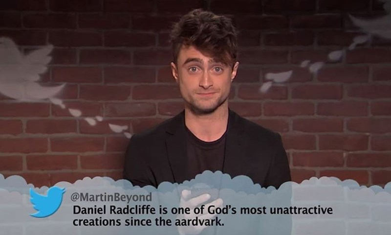 Cool - @MartinBeyond Daniel Radcliffe is one of God's most unattractive creations since the aardvark.