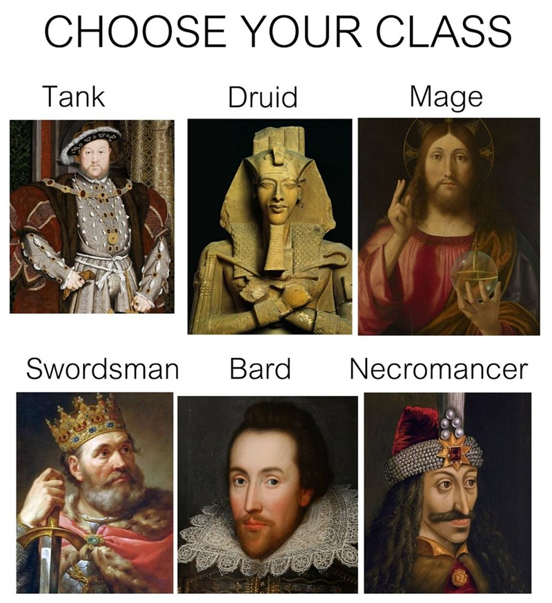 choose your class classicalartmemes