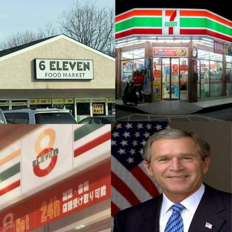 meme - Fast food - ELEVEN 6 ELEVEN FOOD MARKET AAAT WINNERE ww LIVE BAIT ** ELEVEN 240 H