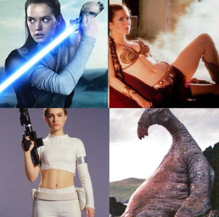 the babes in star wars meme