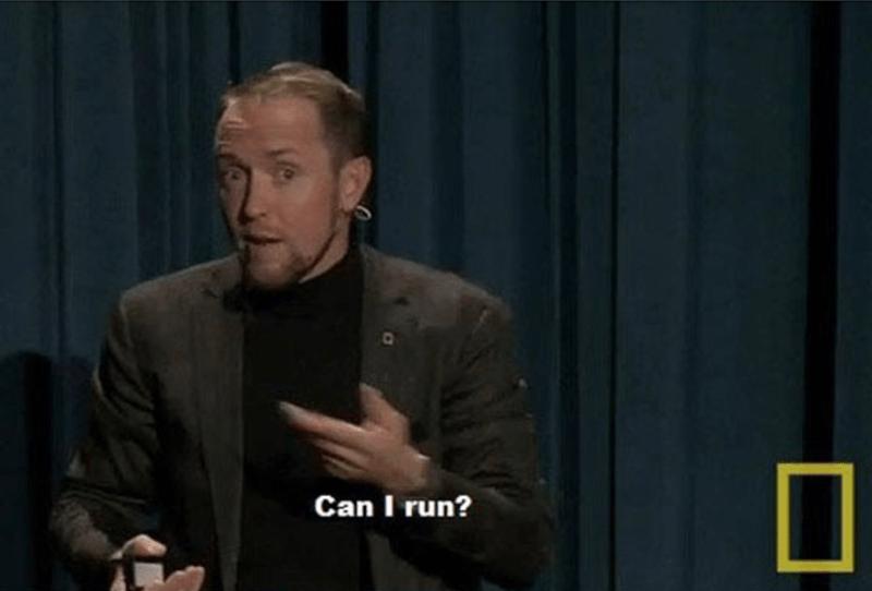 Speech - Can I run?