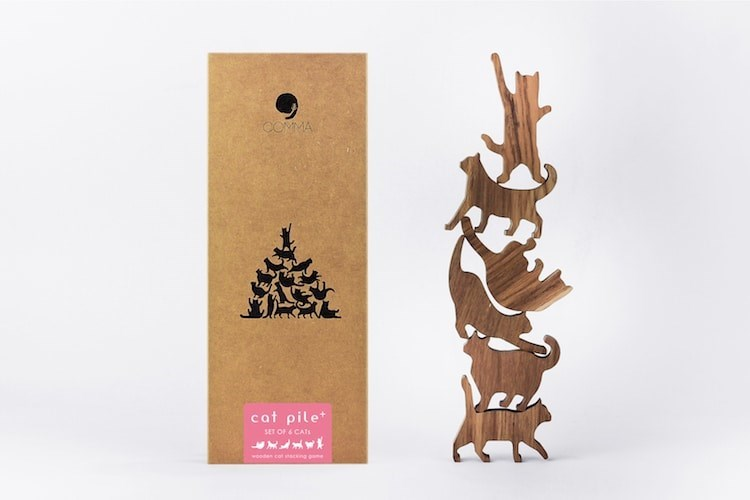 Paper bag - COMMA cat pile SET OF & CATE wooden cot s ng e