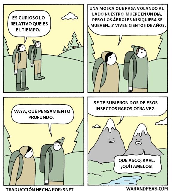 dialogo entre dos humanos y entre dos montanas