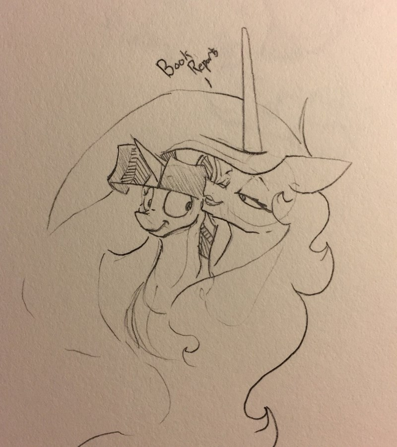 shipping twilight sparkle princess celestia greyscale - 9117275904