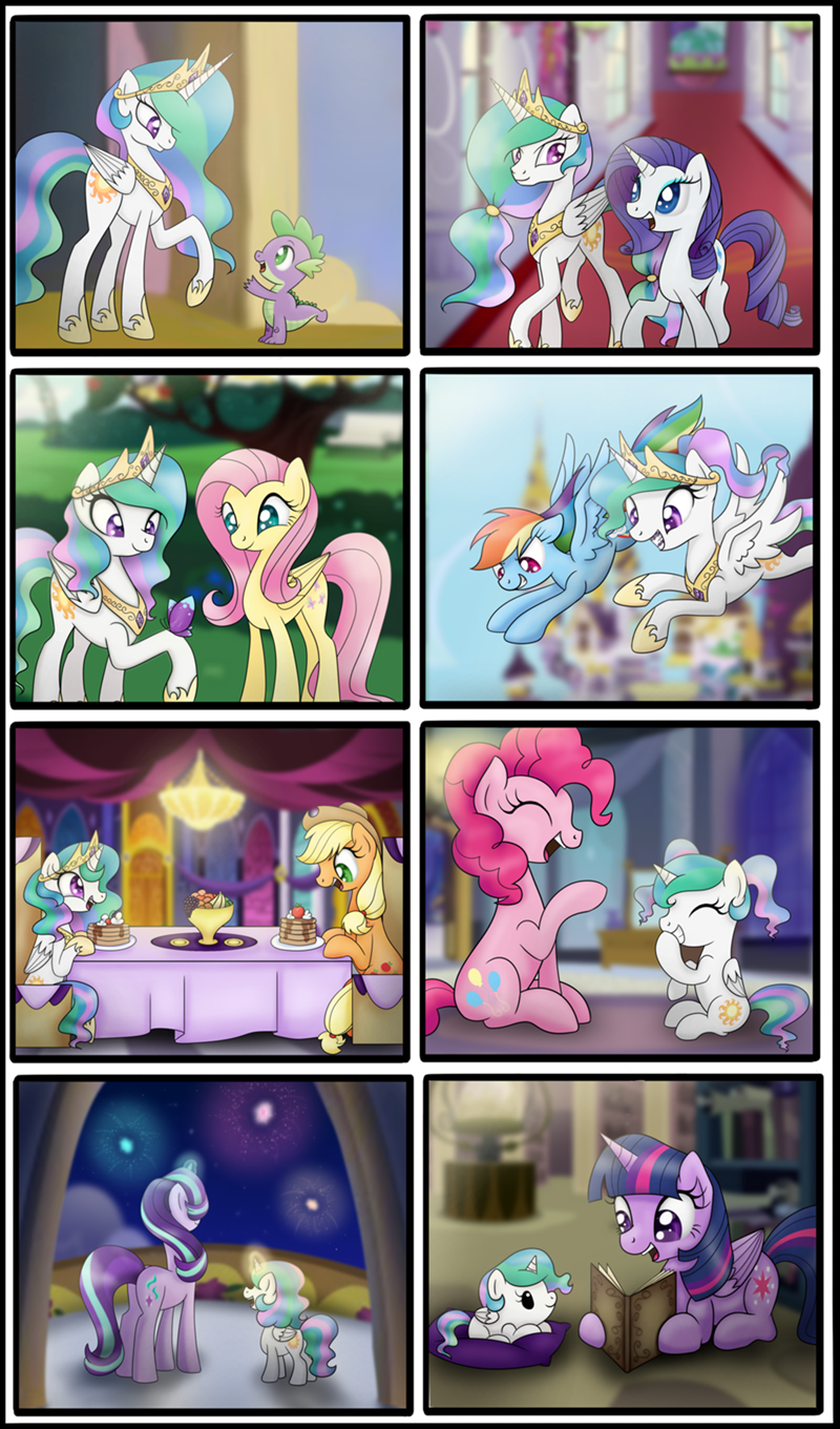 spike applejack bonsia-lucky starlight glimmer twilight sparkle pinkie pie rarity comic princess celestia fluttershy rainbow dash - 9117277440