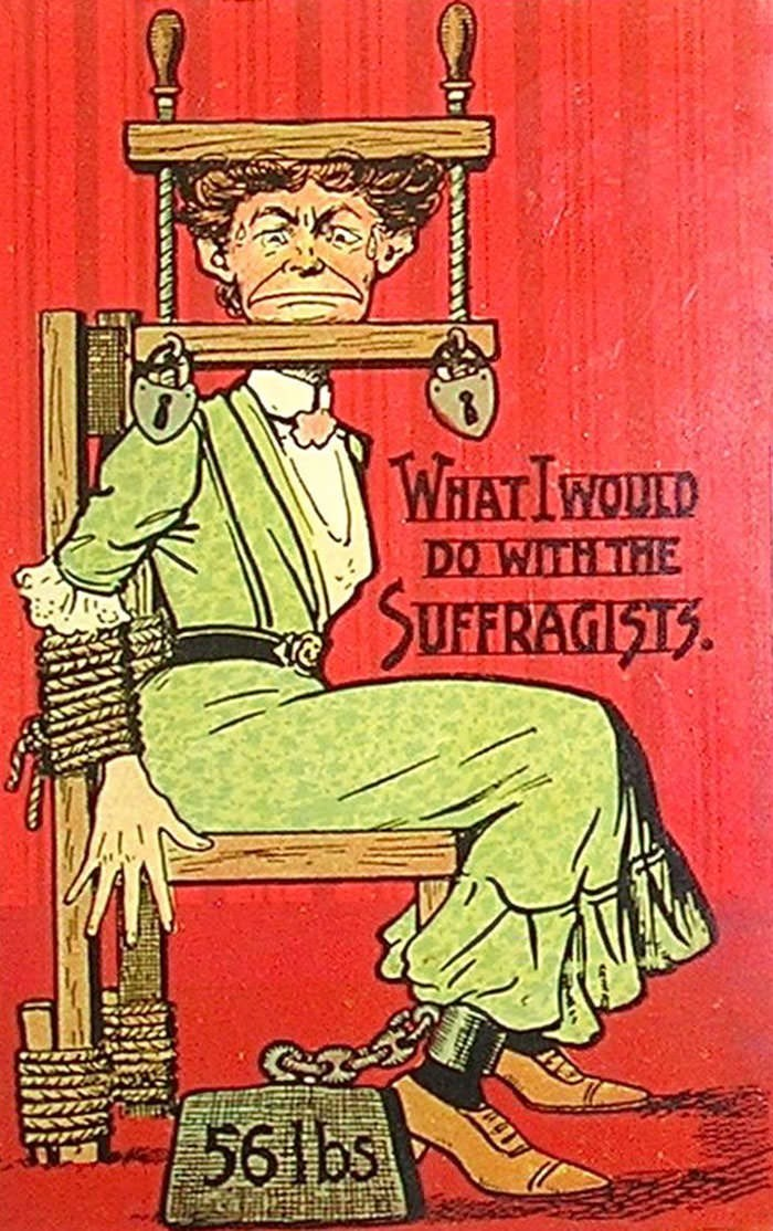 anti-suffrage postcard - Poster - WHATIWOULD DO WITH THE SUFFRAGISTS 561bs
