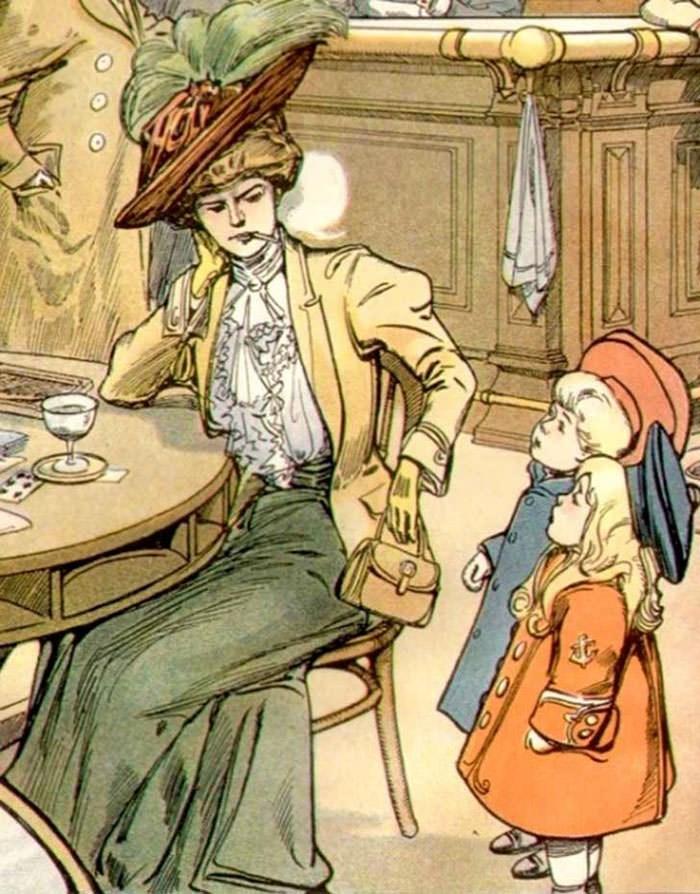 anti-suffrage postcard - Cartoon