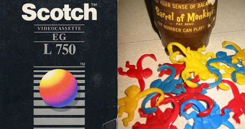 Toys and objects from the 70s and 80s to induce nostalgia.