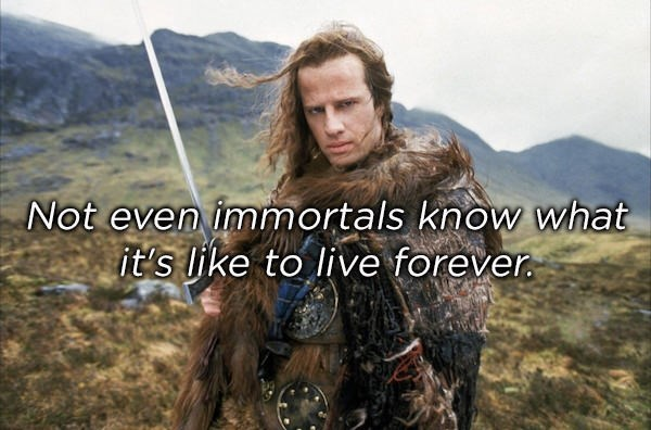 Outerwear - Not even immortals know what it's like to live forever.