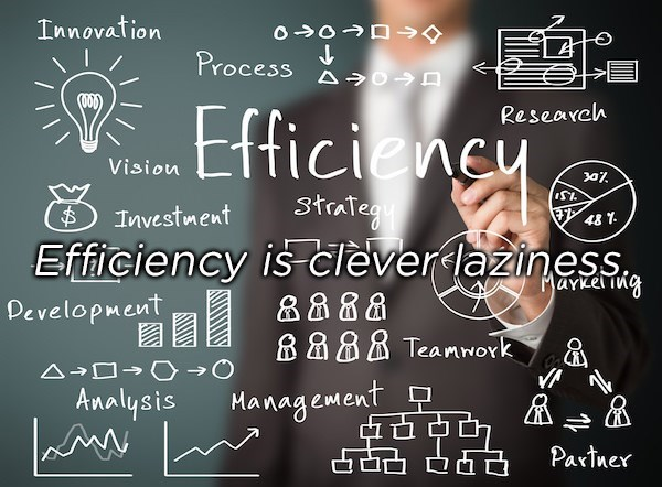 Blackboard - Innovation Process Efficiency Research Vision 3traTegu Efficiency is cleverlaziness Investment $48 1 Marke ing Development 88 8 Teamwork Analysis Management Partner