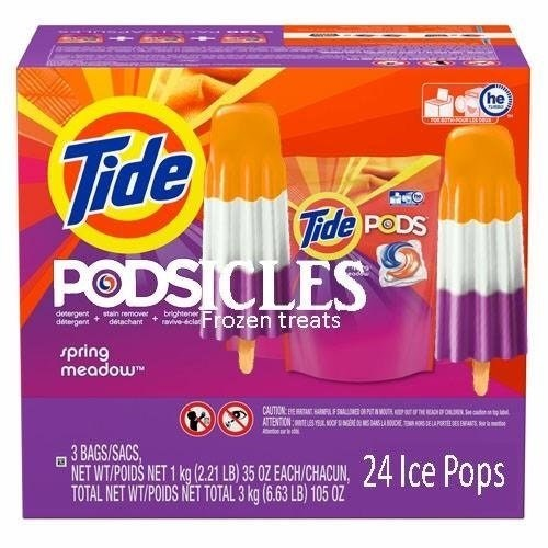 Funny meme about refreshing tide pod popsicles.