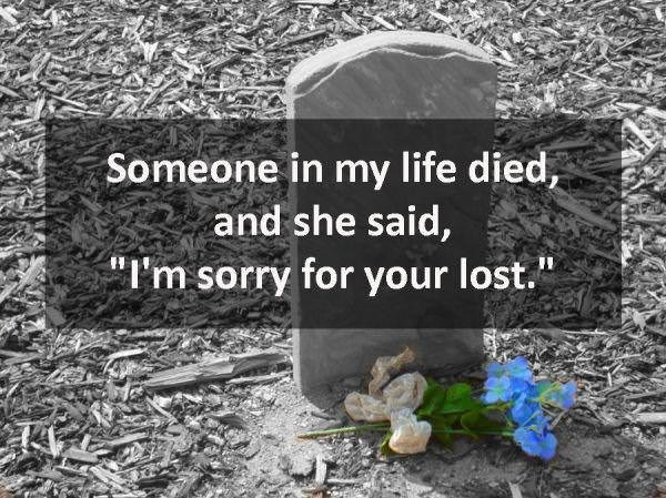"""Soil - Someone in my life died, and she said, """"I'm sorry for your lost."""""""