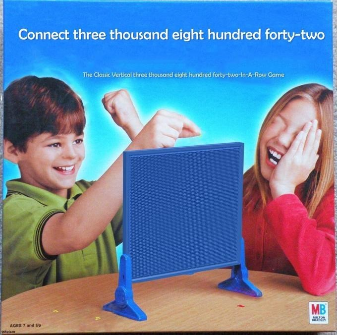 Product - Connect three thousand eight hundred forty-two The Classic Vertical three thousand eight hundred forty-two-in-A-Row Game MB MILTON RADLEY AGES 7 and Up gotplazo