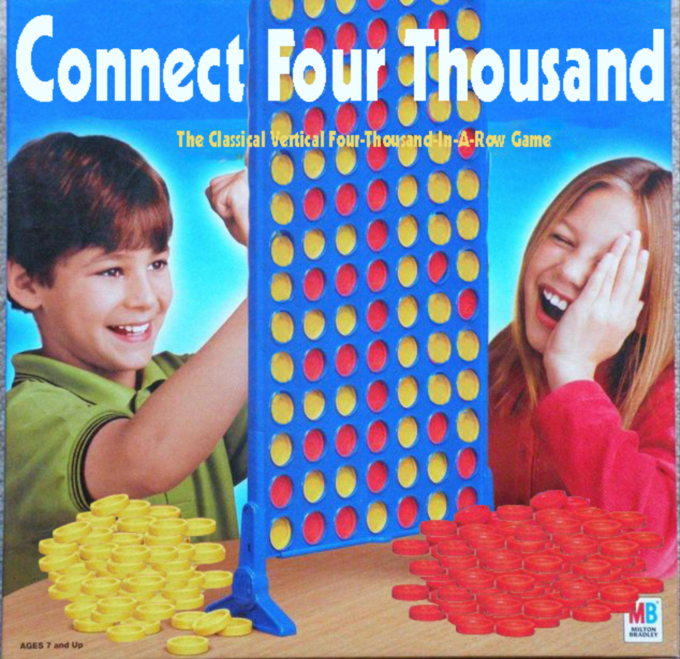 Vegetarian food - Connect Four Thousand The Classical Vertical Four-Thousandin-A-Row Game MB MISTON BRADLEY AGES 7 and Up