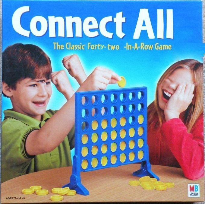Play - Connect All The Classic Forty-two -In-A-Row Game MB SILTON BRADLEY AGES77and Up