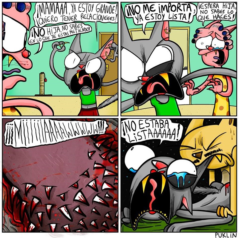 comic gatuno por puklincomics