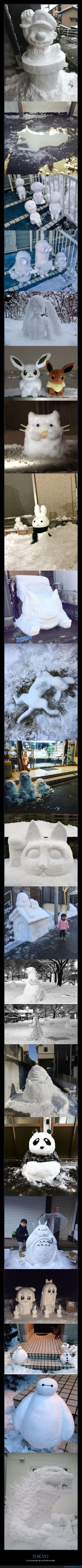 munecos de nieve en japon