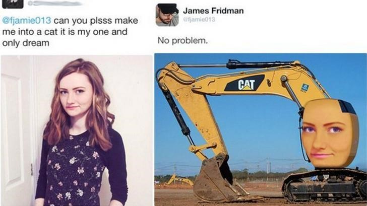 Product - James Fridman @fjamie013 can you plsss make me into a cat it is my one and only dream fjamie013 No problem. CAT