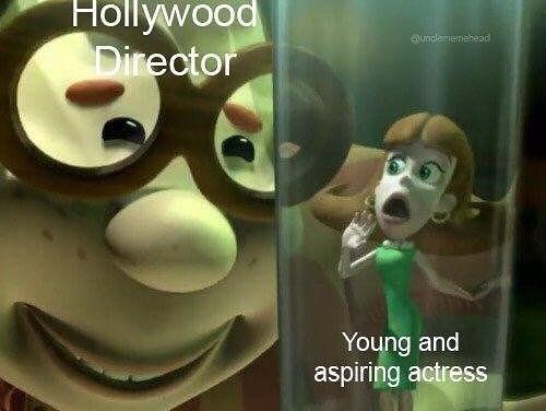 meme - Animated cartoon - Hollywood Director unclememehead Young and aspiring actress