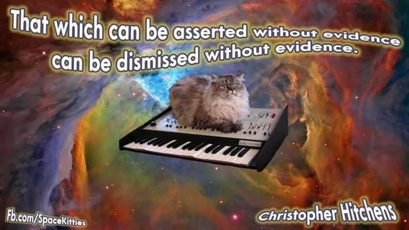 Text - That which can be asserted withou evidence can be dismissed without evidence Christopher Hitchens Fb.com/SpaceKities
