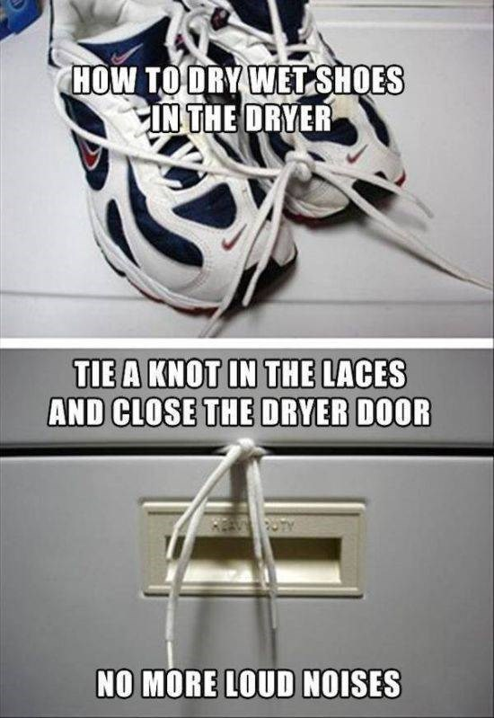 Helmet - HOW TO ORY WET SHOES IN THE DRYER TIE A KNOT IN THE LACES AND CLOSE THE DRYER DOOR A PUTY NO MORE LOUD NOISES
