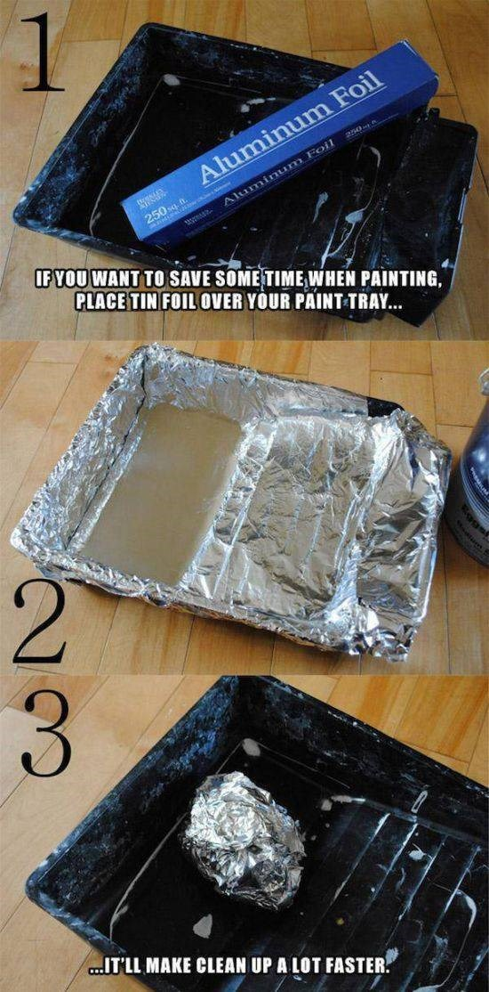 Aluminium foil - 250 Aluminum Foil 250sq Aluminum Foil IF YOU WANT TO SAVE SOME TIME WHEN PAINTING, PLACE TIN FOIL OVER YOUR PAINT TRAY... 2 3 .ITLL MAKE CLEAN UP A LOT FASTER.