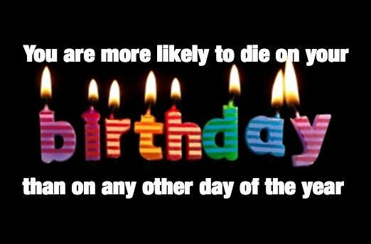 cool statistics about likely to die on your birthday