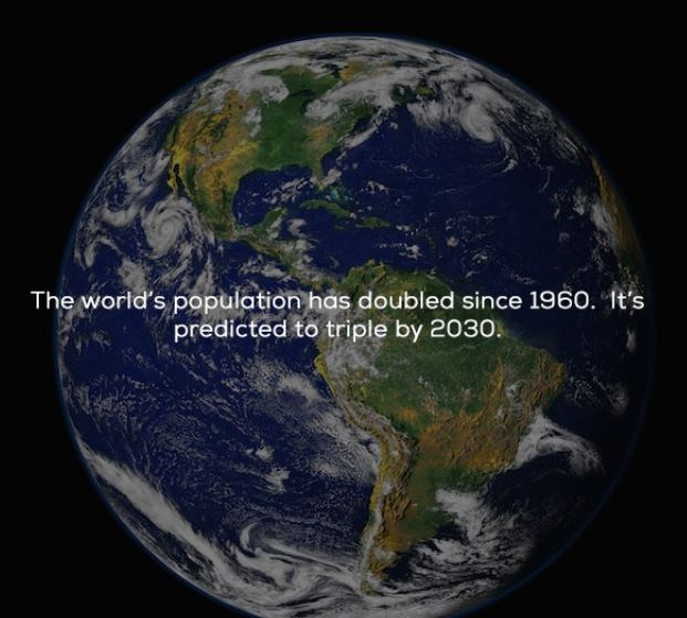 cool statistics that the population has doubled since 1960