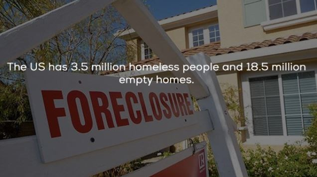 cool statistics that the US has more empty homes than homeless people