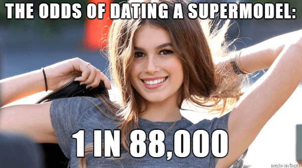 cool statistics that dating a supermodel is extremely rare