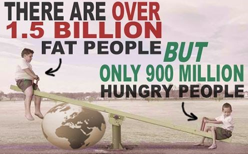 cool statistics that there are more obese people than hungry people