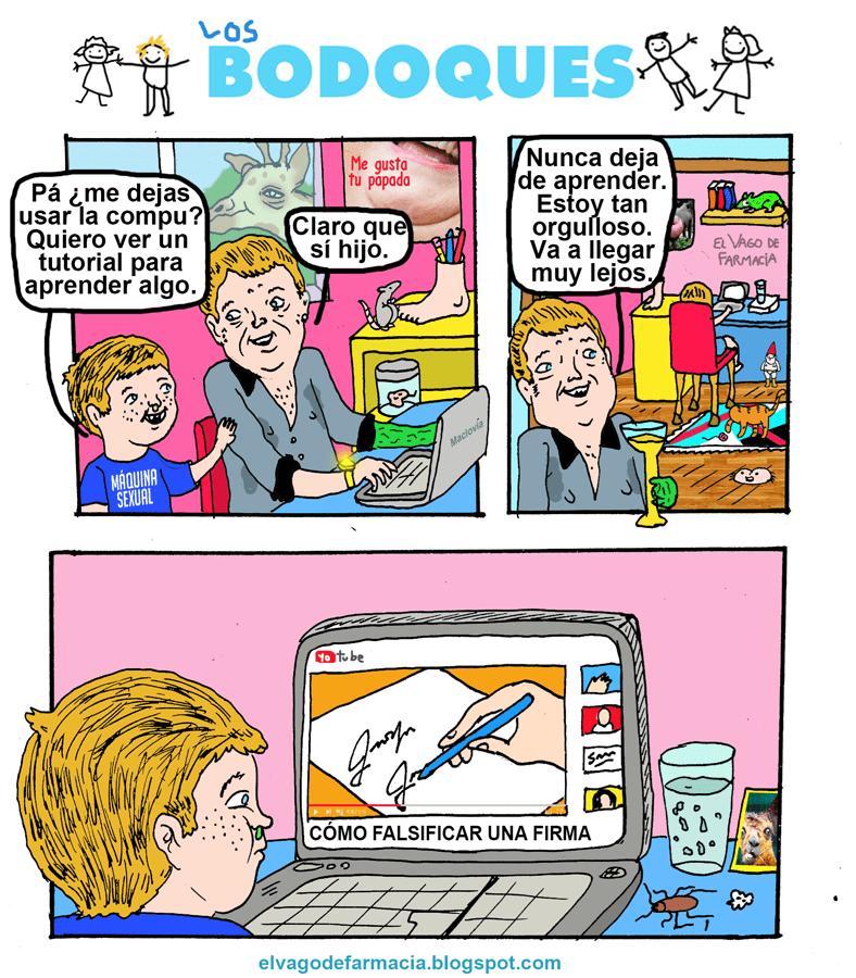 cuando tu hijo te pide la computadora para aprender a falsificar la firma