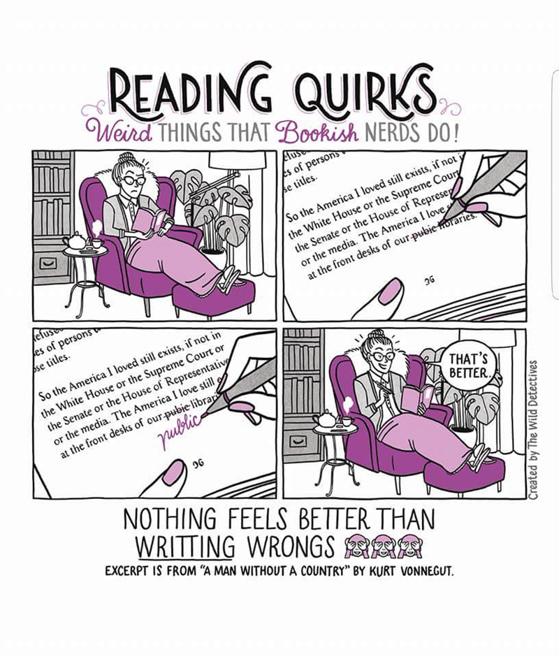 Text - READING QUIRKS Weird THINGS THAT Bookish NERDS DO! of persons se titles s So the America I loved still exists, if not the White House or the Supreme Coury the Senate or the House of Represe or the media. The America I love at the front desks of our pubie horaries efus es of persons pse titles So the America I loved still exists, if not in the White House or the Supreme Court or the Senate or the House of Representativ or the media. The America I love still, at the front desks of our pubie