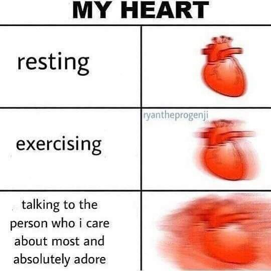 Text - MY HEART resting Tyantheprogenji exercising talking to the person who i care about most and absolutely adore