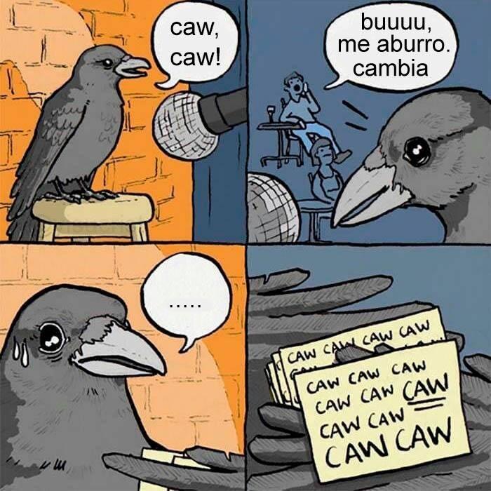 momento dificil del comediante cuervo
