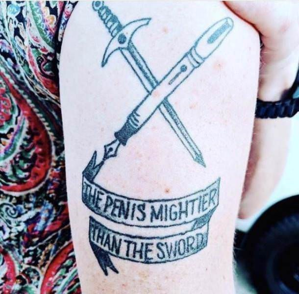 Tattoo - E PENIS MIGHTIES THAN THE SWORD