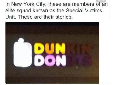 Text - In New York City, these are members of an elite squad known as the Special Victims Unit. These are their stories. DUN DON