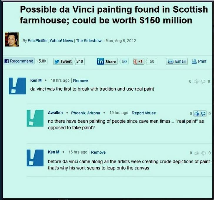 """Text - Possible da Vinci painting found in Scottish farmhouse; could be worth $150 million By Eric Pfeiffer, Yahoo! News 