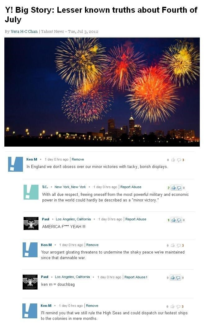 """Fireworks - Y! Big Story: Lesser known truths about Fourth of July By Vera H-C Chan 