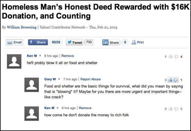 """Text - Homeless Man's Honest Deed Rewarded with $16K Donation, and Counting By William Browning 