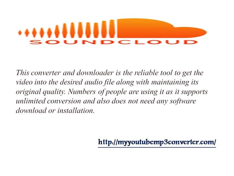 Best SoundCloud to MP3 Converter online in USA - Home