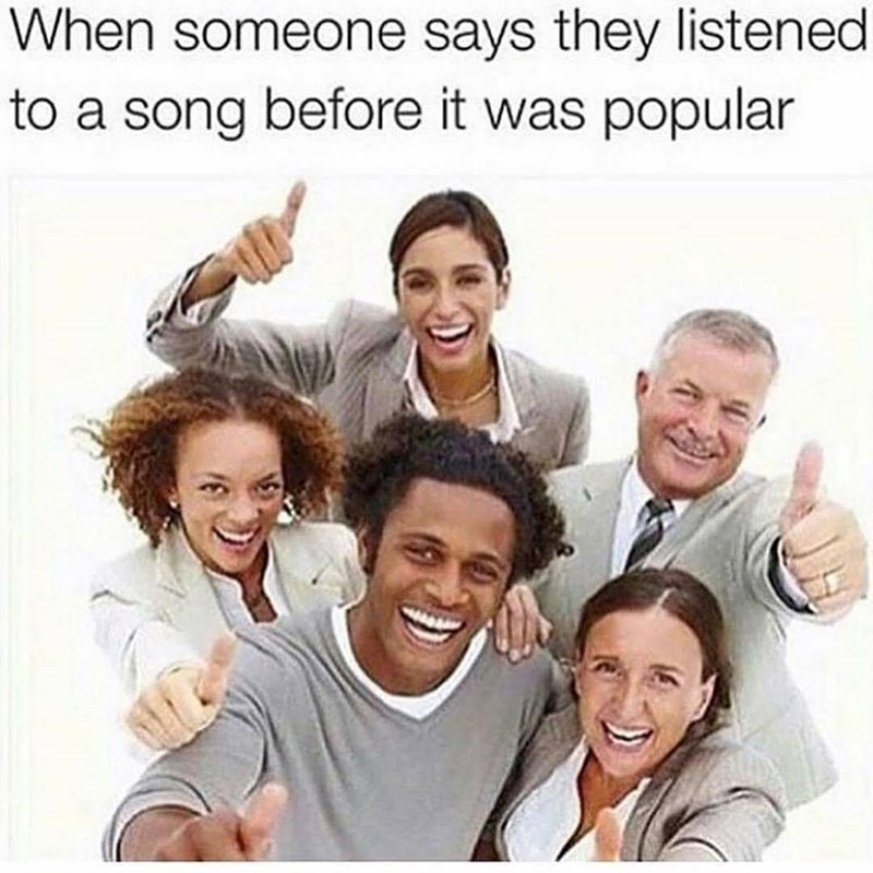 Funny meme about music