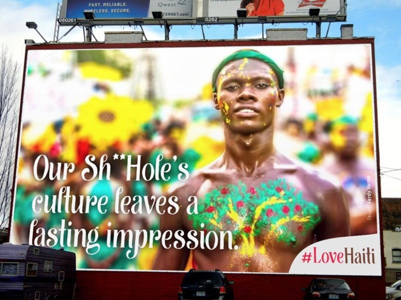 Advertising - FAST. RELIABLE AARELESS. SECURE Qwest TERNET.com 080261 0262 Our Sh' Hole's Culture leaves a fasting impression. #LoveHaiti