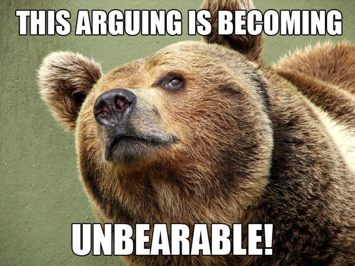 pun - Vertebrate - THIS ARGUING IS BECOMING UNBEARABLE!